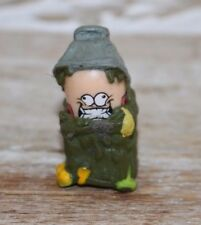 "1.5"" Mighty Beanz wearing Trash Can Green Costume #274"