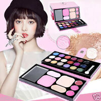25 Color Pro Lip Gloss Blush Eyeshadow Palette Contour Eye Shadow Makeup Set Kit