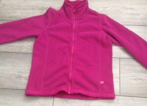Girls Pink Large Benetton Fleece 8-9 Yrs