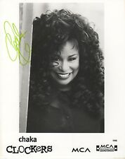 Chaka Khan autógrafo signed 20x25 cm imagen S/W