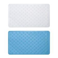 Sabichi Non Slip Rubber Bath Mat 40 x 70cm in White OR Aqua Bathroom Matt NEW