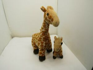 "Mother Mom Giraffe And Baby Calf plush Stuffed Animal Large 16"""