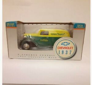 "New in Box Liberty Classic 1937 Chevrolet Bank ""Green Thumb"" Panel Truck #15026"