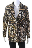 Rachel Comey Womens Andes Tiger Print Blazer Brown Black Size 00