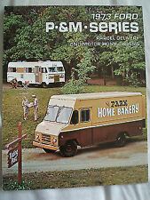 Ford USA P & Motor Home Chassis Series brochure 1973