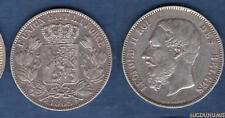 Belgique - 5 Francs 1865 Leopold II TB TTB RARE - Belgium Argent Silver