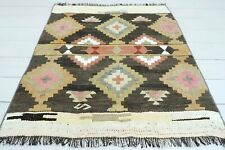 "Turkish Adana Small Kilim, Doormat, Bathmat Decor Wool Rugs Carpet Tapis 35""X38"""