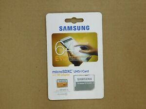 New Samsung MB-MP64D EVO Ultra-Fast 64GB MicroSD XC