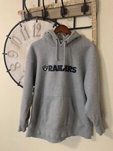 NFL Raiders Pull Over Hoodie Sweathshirt  XL Long Sleeve