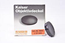 Kaiser lens cap 31mm diameter. New with original box.