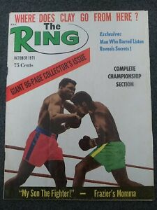 Muhammad Ali - October 1971 THE RING Boxing Magazine - Complete