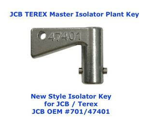 JCB TEREX 47401 Isolator Switch Master Plant Key Excavator Digger Dumper Tractor