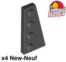 Lego 2x Aile Wedge plate 4x6 noir//black 47407 NEUF
