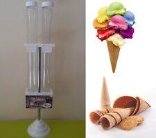Vetrina vetrinetta portaconi 2 tubi plastica gelati cono  cialde gelaterie bar