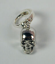 TummyToys® Navel Belly Ring with Sterling Silver Skull Charm Free U.S. Shipping
