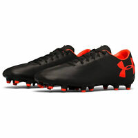 Under Armour UA Mens Force 3.0 Black Firm Ground Football Boots Size UK 8