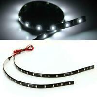 10 Pièces 15 LED Bande Flexible Lampe Voiture Décor Blanc SMD3528 Imperméable