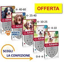 Advantix Bayer - 4 pipette per cani da 0-4 / 4-10 / 10-25 / 25-40 / 40-60 kg