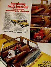 "1974 Ford SuperCab Pickup Original Print Ad-FACTS 9 x 11"""