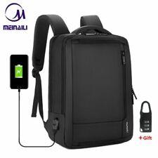 "Mens 15.6"" inch Laptop Backpack USB Charging Waterproof Anti-theft Male Bagpack"