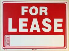 """For Lease Sign Red White Bold Flexible Plastic Signs 12""""x9"""" (S-9)"""