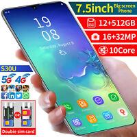 "S30U 12+512GB 7.5"" Android10 Smartphone Unlocked 16MP+32MP Mobile Phone 2 SIM"
