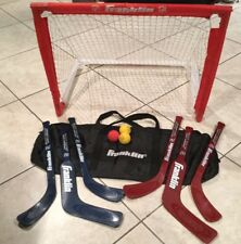 FRANKLIN NHL MINI HOCKEY SHOT ZONE SET Sticks Goal Balls Carry Case