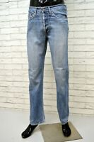 TOMMY HILFIGER Jeans Uomo Taglia 42 Pants Men Pantalone Casual Vita Alta