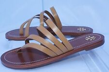 New Tory Burch Shoes Blond Patos Flat Sandals Size 8 Thongs Leather