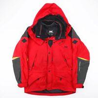 Vintage HELLY HANSEN Helly Tech Red Outdoor Hooded Jacket Size Men's Medium