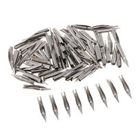 100 Pieces Calligraphy Steel Fountain Pen Fine Nibs, 0.5mm