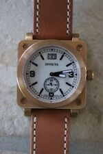 RARE Discontinued Invicta Ladies Square Rose Gold Mother Of Pearl Wristwatch