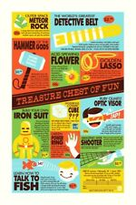 Dave Perillo Print Poster Mondo Treasure Chest Of Fun Thor Batman Spiderman Rare
