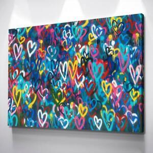 Love Hearts Graffiti Banksy Print Banksy Poster Banksy Art Canvas Wall Art
