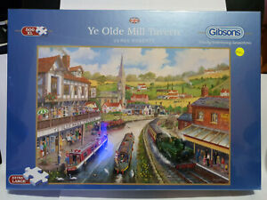 Gibsons G3528 Ye Olde Mill Tavern by Derek Roberts 500 XL pce jigsaw puzzle BNIB