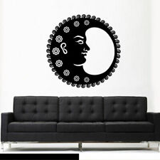 Wall Vinyl Sticker Bedroom Decal Sun Crescent Dual Stars Symbol Moon (Z3029)
