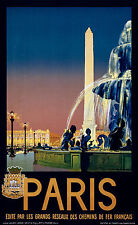 Paris France, Old Vintage Travel Ad, Antique Poster, HD Art Print or Canvas