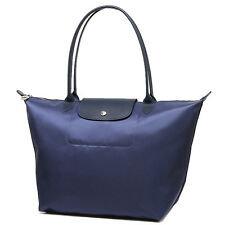 100% Auth Longchamp Le Pliage Neo Large Tote Bag Navy Blue 1899578556