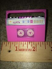 VINTAGE 1987 BARBIE ACTION ACCENTS WINDUP RADIO TAPE CASSETTE REALLY WORKS