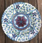 Hungary Hand Painted Floral Plate Folk Art Peasant Ware Faience Pottery Antique