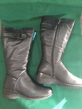 SPRING STEP ALBANY WOMEN BLACK LEATHER BOOTS WATERPROOF  39 8.5 NEW NIB