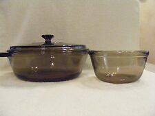 ANCHOR HOCKING 2 Qt. SMOKEY GRAY CASSEROLE WITH LID AND 1 Qt. MIXING BOWL