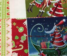 "FABRIC CHARM PACK SQUARES 5"" CHRISTMAS variety MIX DESIGNER material x20 pieces"