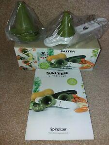 Salter Spiralizer - Fruit and Vegetable Slicer - Handheld - Green - New + Boxed.