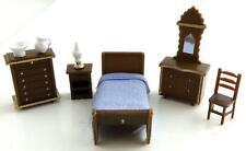 Melody Jane Dolls House Miniature 1:48 Plastic Bedroom Furniture Set Suite