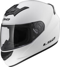 LS2 FF352 FULL FACE MOTORCYCLE MOTORBIKE HELMET WHITE PLAIN ROOKIE