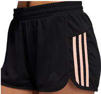 Adidas Shorts Black with Glow Pink Womens Large Authentic Climalite D2M 3 Inch