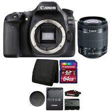 Canon EOS 80D 24.2MP Digital SLR Camera with 18-55mm Lens and 64GB Memory Card