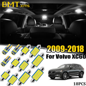 18 Bubs Interior LED Package Kit For Volvo XC60 2009-2018 + License Plate Lights