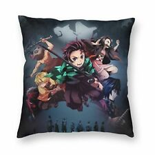 Demon Slayer Anime Throw Pillow Case Car Sofa Bed Zipper Cushion Cover 16-26''